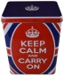 Preview: Nostalgic Art Blechdose Keep Calm and Carry On Großbritannien