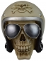 Preview: Spardose Totenkopf mit Helm