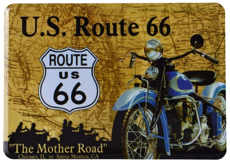 Nostalgic Art Blechpostkarte Route66 The Mother Road