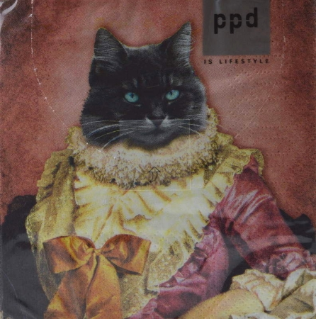 Serviette Lady Cat