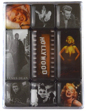 Nostalgic Art Magnet-Set Celebrities