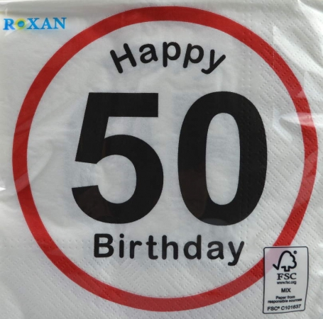 Serviette Happy Birthday 50