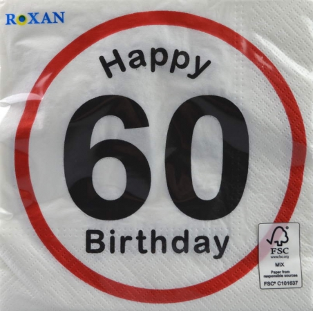 Serviette Happy Birthday 60