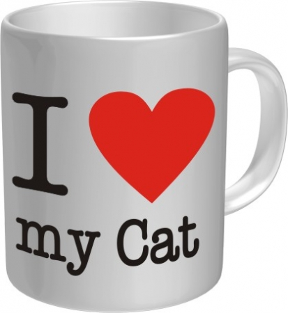 Rahmenlos Tasse I Love My Cat